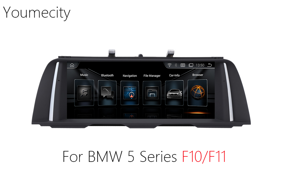 Youmecity 10,2 pulgadas Android 4,4 Car Video player Radio para BMW 5 serie F10/F11 2011 2012 2013 2014 2015 2016 Wifi pantalla táctil