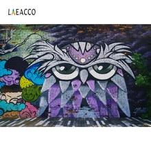 Laeacco Graffiti Brick Wall Scene Baby Children Photography Backgrounds Customized  Photographic Backdrops For Photo Studio