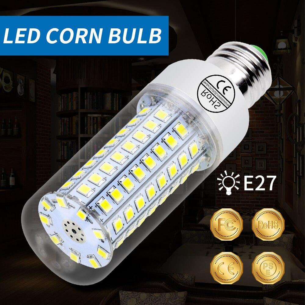 E27 LED Corn Bulb 2835 SMD 5730 GU10 Ampoule LED E14 Lamp 220V 24 36 48 56 69 72 89 102led Bombillas Home Energy Saving Light