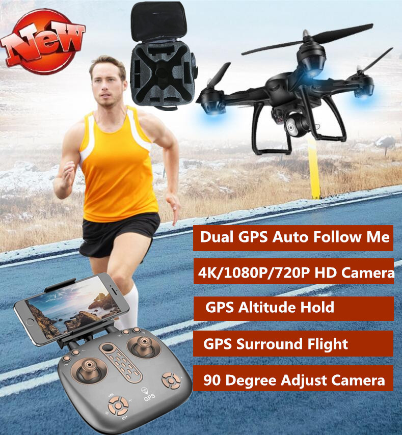 GPS Auto Follow Me RC Dron Drone Quadcopter With Camera 4K 1080P 720P WIFI FPV Drone GPS Follow Me 14min Flight Time VS B5W X183 follow me down