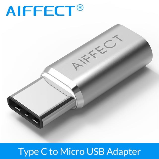 AIFFECT Typ C Adapter auf Micro USB Adapter typ-C zu Micro B Konverter für Handys Laptops Tabletten