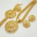 Hot Sale dubai gold plated jewelry women fashion jewery sets women necklace  jewelry sets