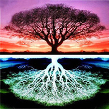 30x30cm 5D Diy Diamond Embroidery Mosaic Pattern Tree of Life Picture Home Decor Gift Round Painting Cross Stitch Kits
