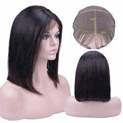 Kurze Bob Perücken 13x4 Spitze Front Menschliches Haar Perücken Peruanische 100% Remy Menschenhaar Perücken Pre-Gezupft gebleichte Knoten Für Frau