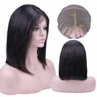 Short Bob Wigs 13x4 Lace Front Human Hair Wigs Peruvian 100% Remy Human Hair Wigs Pre-Plucked Bleached Knots For Woman