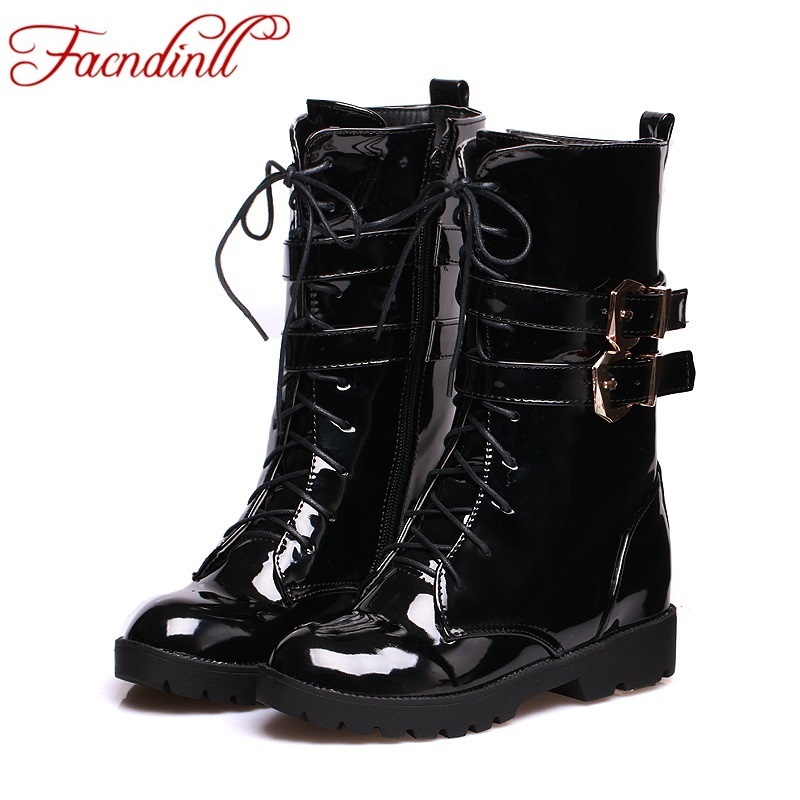 Online Get Cheap Patent Leather Combat Boots -Aliexpress.com ...