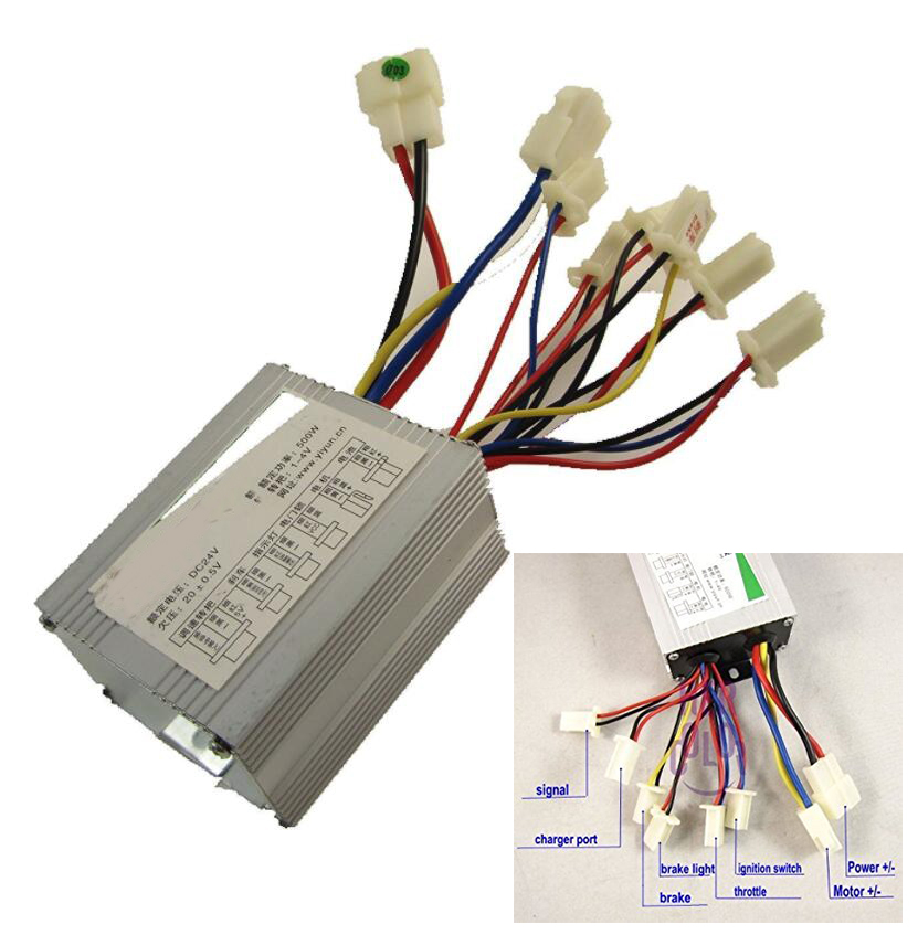 24V 500W Motor Brush Speed Controller Suitable for electric bike & scooter Speed Control 31hp 543477 briggs and stratton regulator gas engine parts