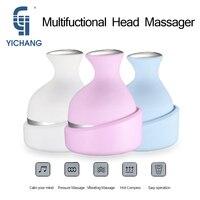 Wireless electric head massager hand held shiastu massagers manual 4 heads scalp massager device for head massage &relaxation
