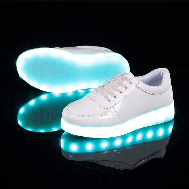 Kids Led Light Shoes Brand Children Luminous Sneakers Fashion New Boys Girls Casual Canvas Shoes Size 28-35 children s shoes girls boys shoes led tennis glowing sneakers with luminous sole usb charging magic stickers kids shoes