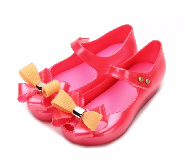 6efbb52c0d7 Princess Sandals Mini Melissa Jelly Girls Sandals Shoes Duoble Color Big Bow  Baby Girl Sandals Toddler Girl Sandals High Quality