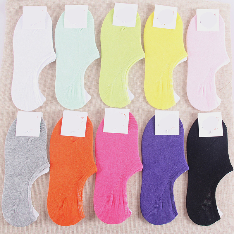 Comfortable cartoon ankle invisible women socks cute female men Ladies bamboo no show socks Hosiery Female 5pairs/lot 2