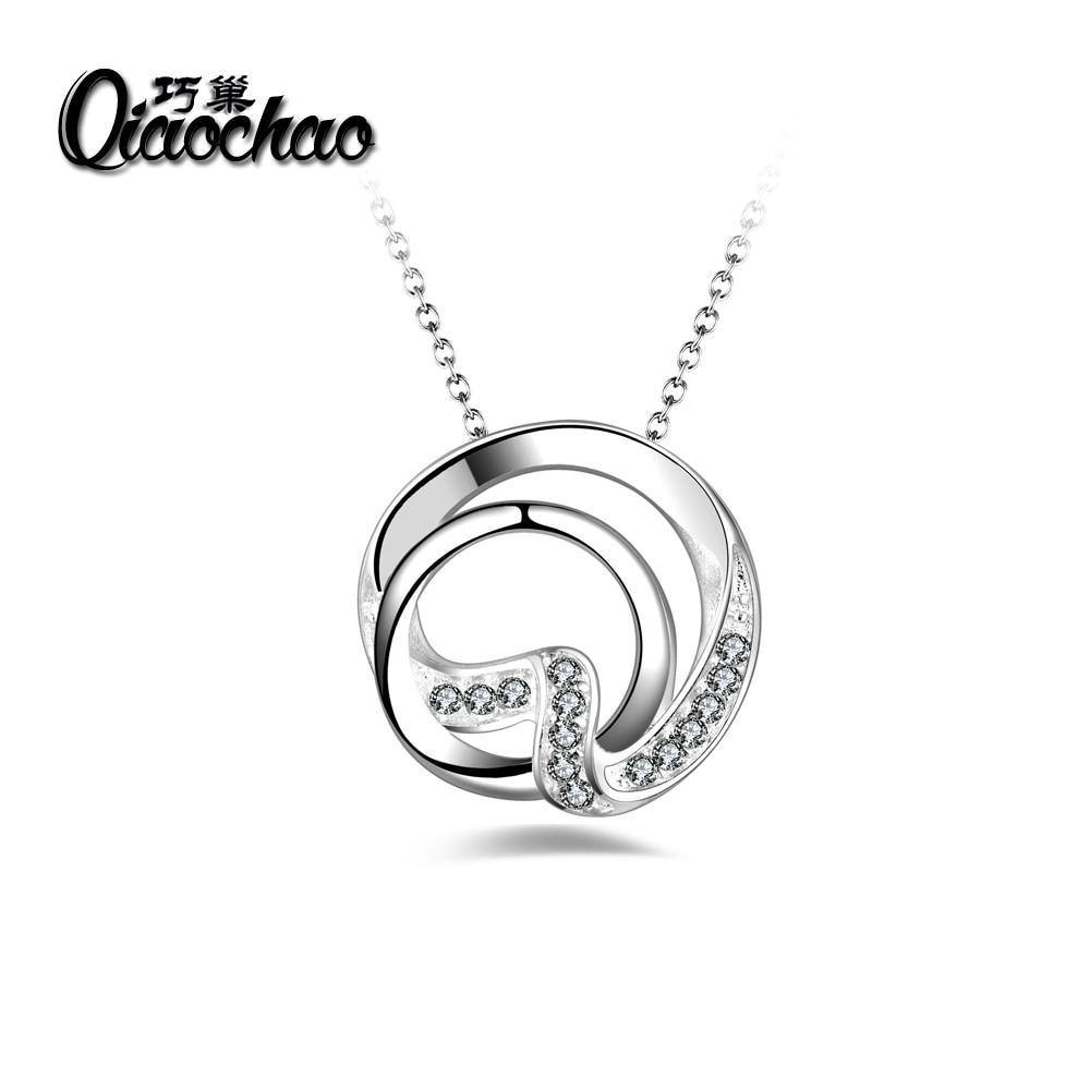 730cd688d6c3 Calidad superior de La Manera de La Corona Colgante Collar de la Mujer  Retro Vintage Classic Silver Oro de Cubic Zircon Piedra Joyería P206