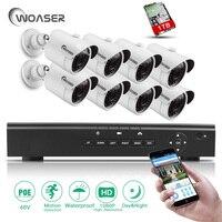 WOASER 1080P 8CH POE NVR Surveillance System Kit Security CCTV Kit 48V Video Output 8PCS 2