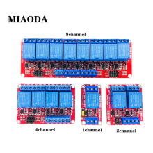 цена на 1 2 4 8 Channel 5V Relays 12V Relays Module Board Shield with Optocoupler Support High and Low Level Trigger for Arduino