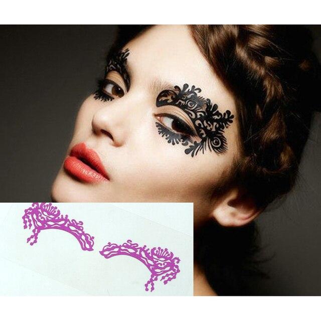 Temporary Eye Tattoo Eyeshadow Eyeliner Transfer Sticker Personality ...