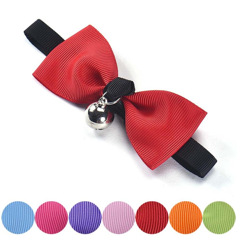 Newest Adjustable Dog Cat Pet Bow Tie With Bell Puppy Kitten Necktie Collar Levert Dropshiping  2017 N23
