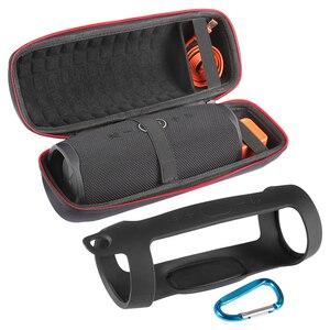 Image 2 - Twarde torby głośnikowe EVA Carry Zipper + miękki futerał silikonowy pokrowiec na głośnik JBL Charge 4 Bluetooth do głośników JBL CHARGE4