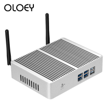 OLOEY Fanless Mini PC Intel Core i7 4610Y Windows 10 Linux 8GB RAM 120GB SSD 300Mbps WiFi Gigabit Ethernet HDMI VGA 6*USB