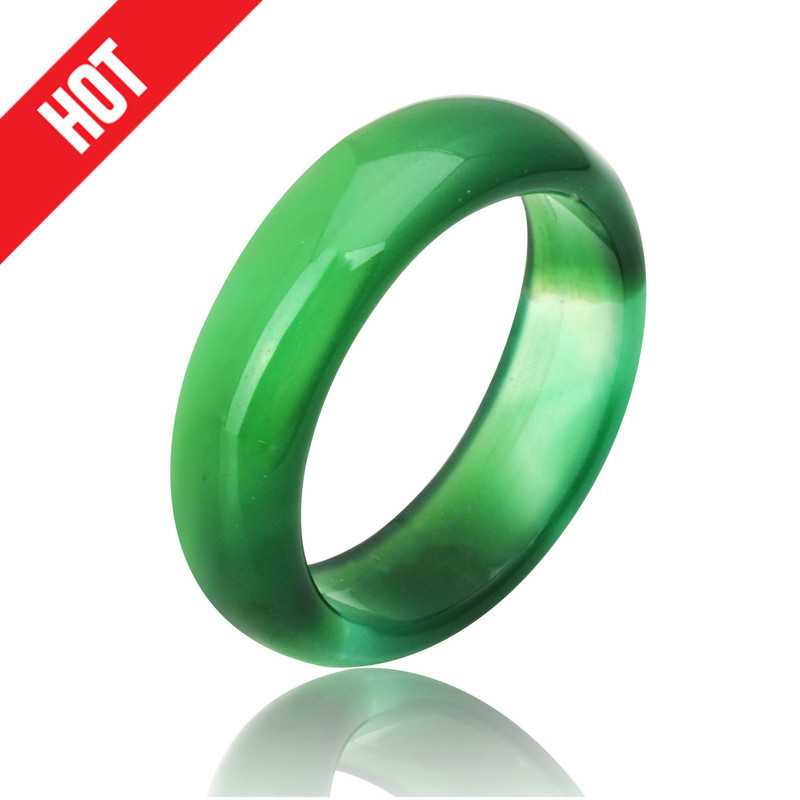 2017 hot sale high quality natural green carnelian crystal ring