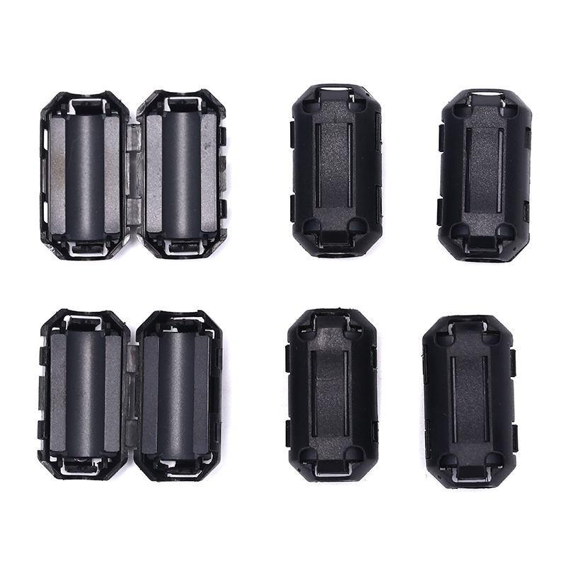 6pcs Clip On EMI RFI Noise Ferrite Core Filter For 7mm Cable N3