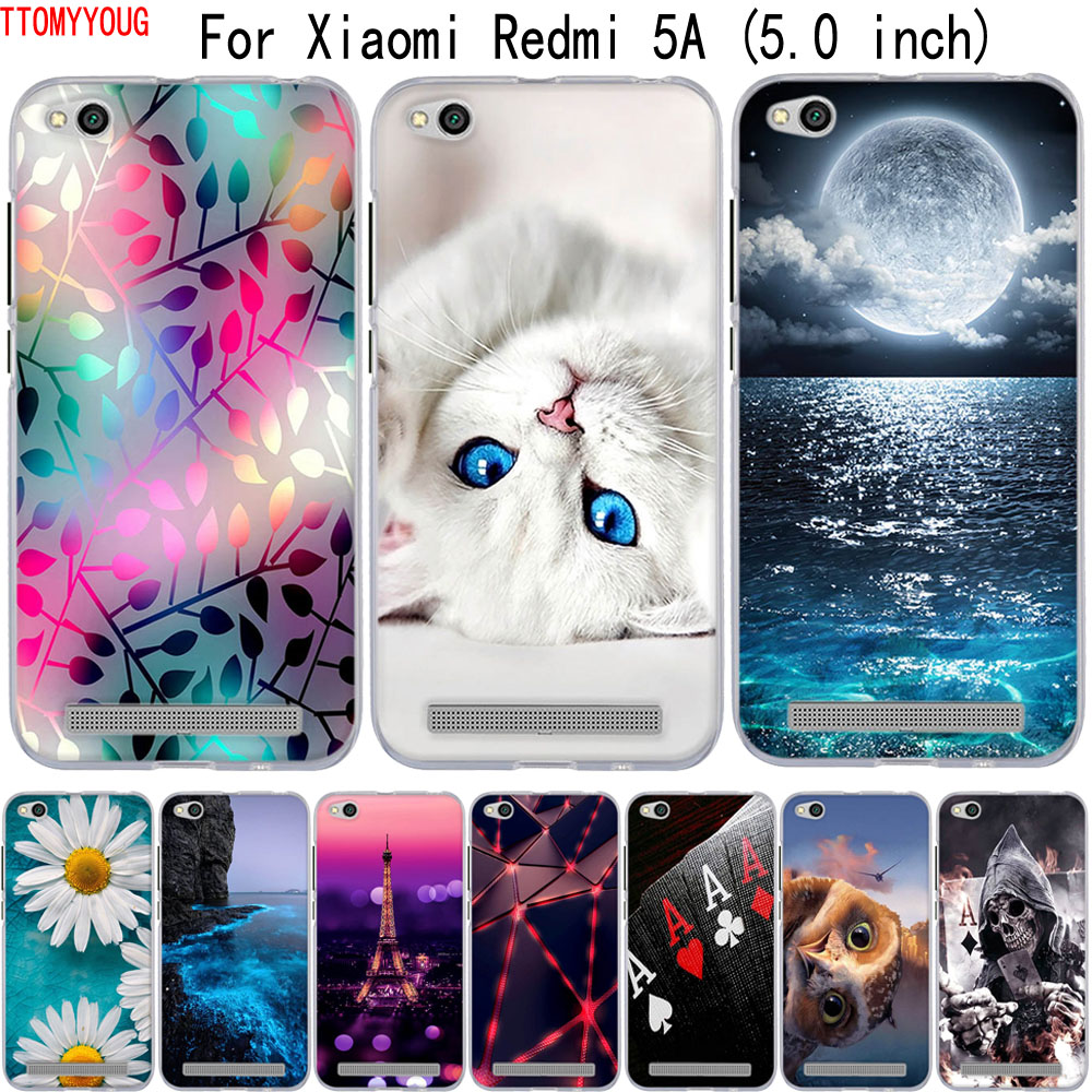 For Case Xiaomi Redmi 4A 5A 6A Cover 3D Cute Cover For Xiaomi Redmi 5A 6A 4A Case Soft Silicone TPU Bag For Xiaomi Redmi5a Cases