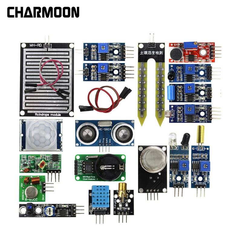 US $11 68 20% OFF|16pcs/lot Sensor Module Board Set Kit for Arduino  Raspberry Pi 3/2 Model B 16 Kinds of Sensor-in Demo Board Accessories from