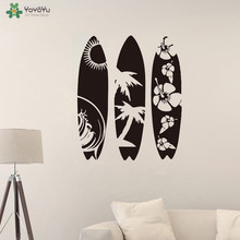 YOYOYU Wall Decal Surfboard Set of 3 Sticker Summer Beach Sport Sea Modern Vinyl Art QQ304