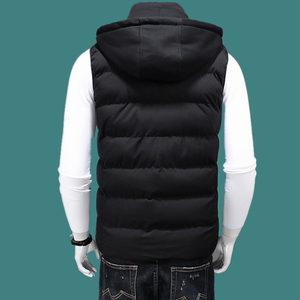 Image 3 - Cotton Vest Men Plus Size Big 6XL 7XL 8XL Large Casual Winter Sleeveless Jacket Male Hooded Thick Warm Parka Jacket Waistcoat