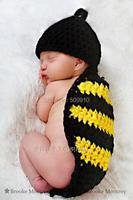 Handmade Bee Crochet Hat Baby Animal Knitted Beanie Newborn Knitting Baby Hats Crochet Cap 5sets Free
