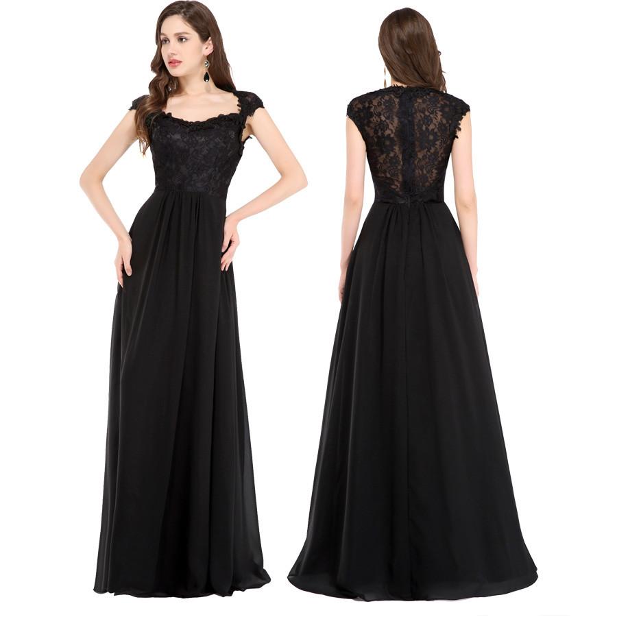 Bayan abiye elbise siyah