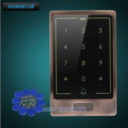 HOMSECUR Waterproof Wiegand 26/34 Metal Access Control 125Khz RFID Reader+Tamper Alarm