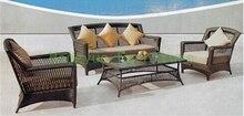 New designs rattan garden sofa set furniture supplier