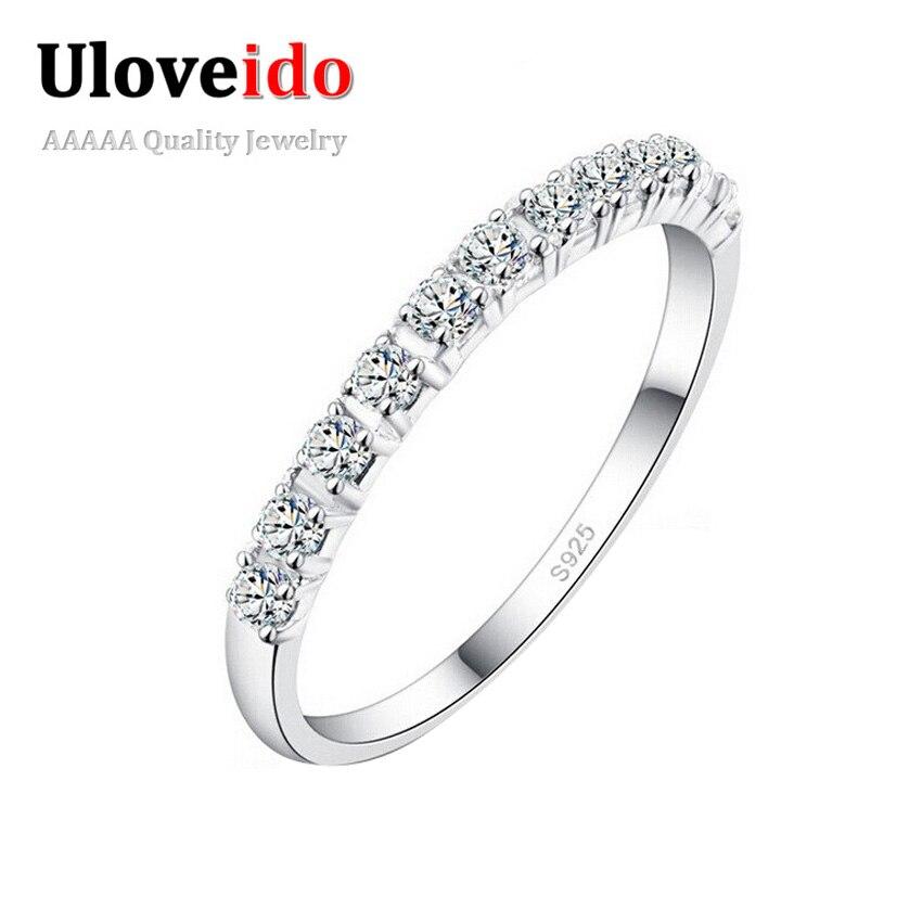 """Белый кристалл кольца для женщин """"фианит"""" кубический цирконий, ювелирные старинные фиолетовый кольцо с камнями день святого валентина подарки мои заказы обручальное кольцо бижутерия кольца uloveido j029"""