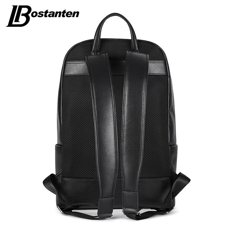 Retro Lederen mannen Rugzak Grote Capaciteit laptop tas school rugzak mannelijke schoudertassen Bruin lederen Travel Rugzakken - 4