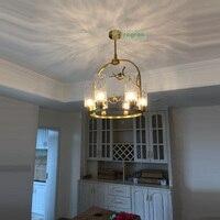 Vintage Bedroom Copper Lamp Nordic Creative Bird Post Modern Restaurant Full Copper Chandelier Antique Style Chandeliers