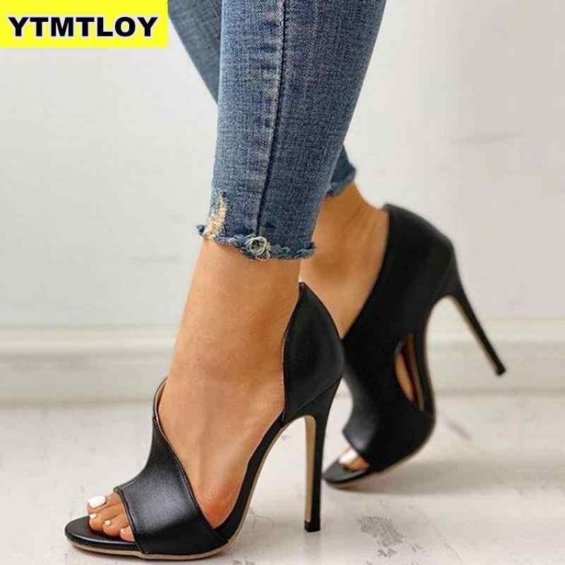 Panas Hollow Wanita Pumps Ular Sepatu Baru Seksi Tinggi Heels Pesta Wanita Stiletto & Enlargers Perempuan Pernikahan Cetak Chaussures Mewah