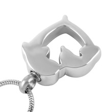 Dolphin Heart Urn Necklace