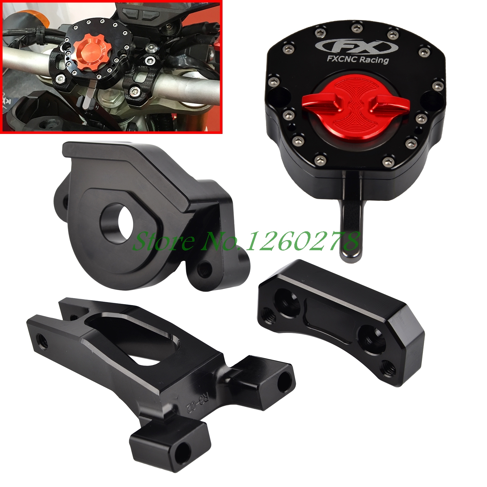 Motorcycle Steering Damper Stabilizer With Mounting Bracket Kit For Yamaha YZF R25 R3 2014 2015 2016 for ktm 200 duke 2013 2014 390 duke 2014 2015 2016 motorcycle accessories steering damper stabilizer with mounting bracket kit