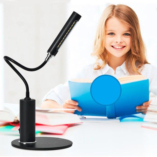 2016 Лучшие Продажи Novelty FX013 СВЕТОДИОДНЫЙ Свет Бюро Гибкие Студенты Изучают Настольная Лампа Настольные Лампы Защиты Глаз Высокое Качество