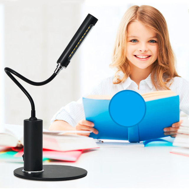 2016 Top Sale Novelty FX013 LED Desk Light Flexible Students Study Reading Lamp Table Desk Lamps Eye Protecting Top Quality