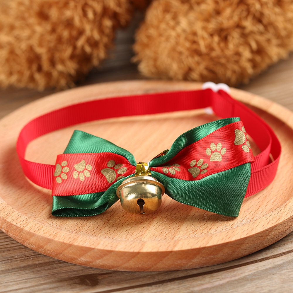 Adjustable Pet Dog Cat Christmas Festival Wedding Bow Ties Necktie Pet Accessories Grooming Bowknot Collar Pet Accessories