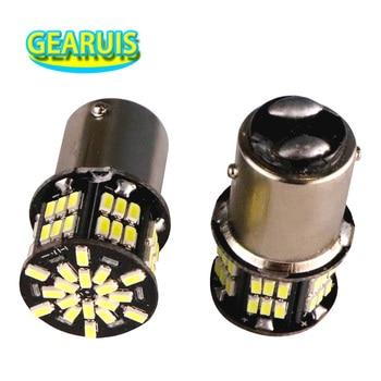 100pcs 1157 BAY15D 54 led 3014 smd lamp Bulbs 1156 ba15s bau15s Car Styling Led Turn Signal Brake Lights 12V White red yellow