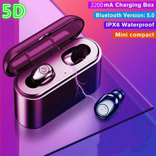 Bluetooth 5.0 Earbuds earphone Wireless Headset Deep Bass Earphones 5D Stereo