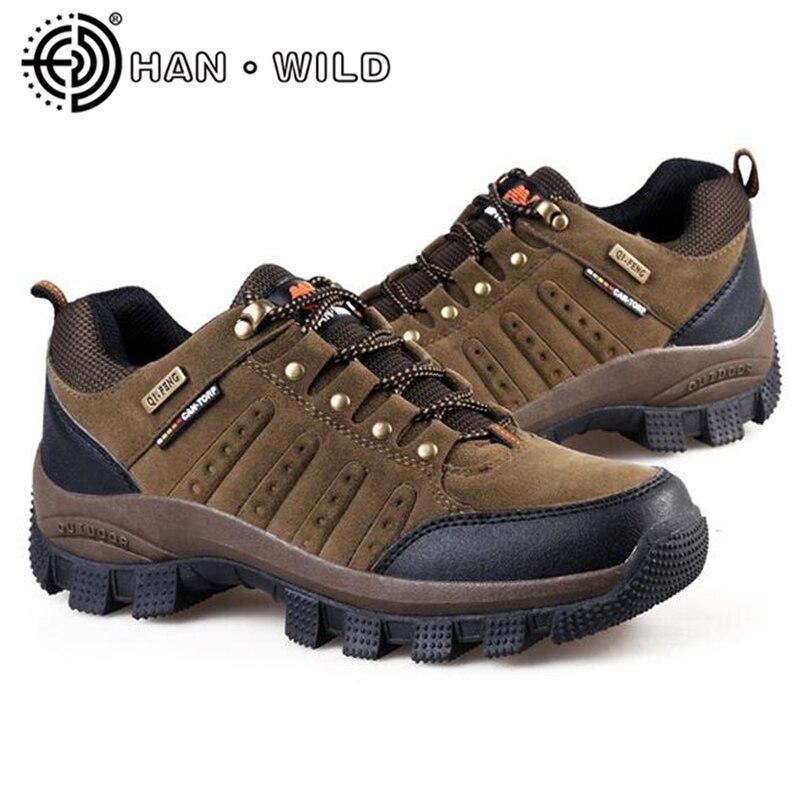 Baskets 47 36 Plein Unisexe Taille Cuir Plus Véritable Green En army Hiver Étanche Causal Chaussures Hommes kaki Air Escalade La Automne Marron XTxaqf7