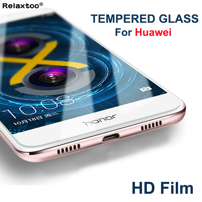 Galleria fotografica Protective film tempered glass for huawei <font><b>honor</b></font> <font><b>7x</b></font> screen Protector for <font><b>honor</b></font> 9 8 5c 5x 6 plus 6c 6x 6a 7 7i 8lite honor8 honor9
