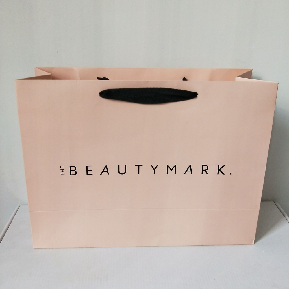 LUXURY MATT LAMINATED PARTY BAGS PAPER BOUTIQUE BAG GIFT BAGS WITH ROPE HANDLES