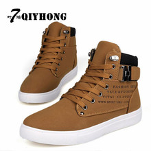 QIYHONG 2017 Spring And Autumn Fashion Big Size Men Canvas Vulcanized Shoes Shoes Comfortable Breathable Outdoor Men'S Shoes 47