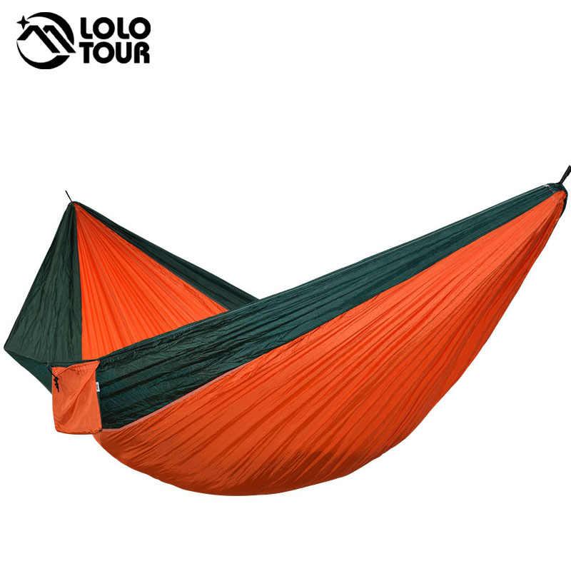 Ультра-большой двойной парашютный Гамак 2 Кемпинг патио для отдыха сад террасы спальный хамака хамак 300*200 см 118*78 дюймов