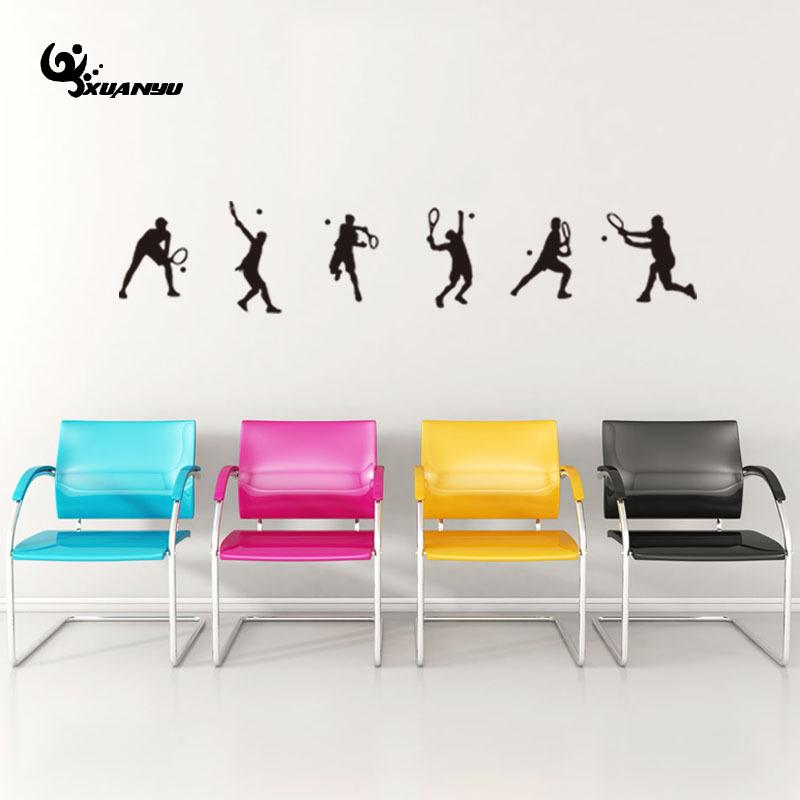 Hot Selling Tennis Wall Sticker Poster Wallpaper For Living Room Sofa Background Wall De ...