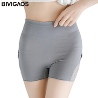BIVIGAOS Summer New Women Seamless Panties Lace Non Trace Underwear Body Shaper Shorts Push Up Corset